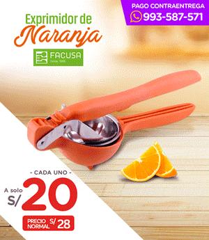 Exprimidor de Naranja c/Engranaje Fusión - Facusa