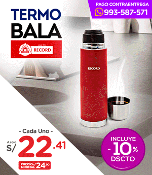 Termo Bala Récord 500 ml.
