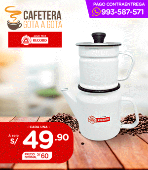 Cafetera Record 2 pzas N° 10