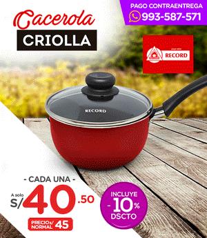 Cacerola Criolla Roja N° 16 - Record