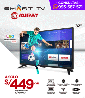 TV LED Miray Smart Tv 32p.HD