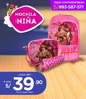 Mochila Escolar - Niña