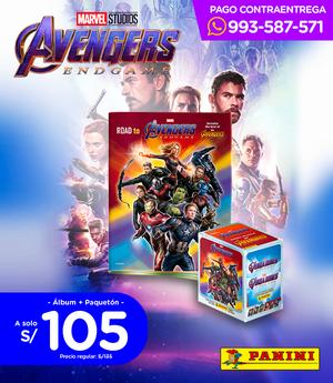 Avengers Endgame Álbum Tapa Blanda + Paquetón SIN DELIVERY
