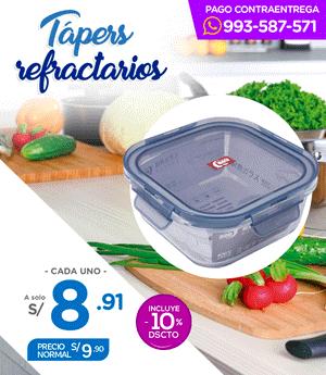 Táper Refractario Deli 800 ml (gpk12-800)