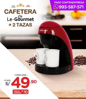 Cafetera Le Gourmet + 2 tazas