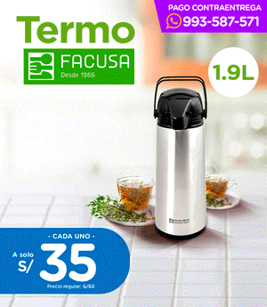 Termo Facusa 1.9 Lts - Brillante