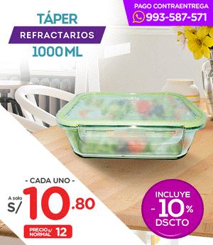 Táper Vidrio Sumo 1000 ml