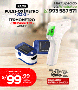 Pack Termómetro + Pulsioxímetro Jziki