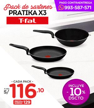 Pack de Sartenes Pratika Set x3 - Tfal