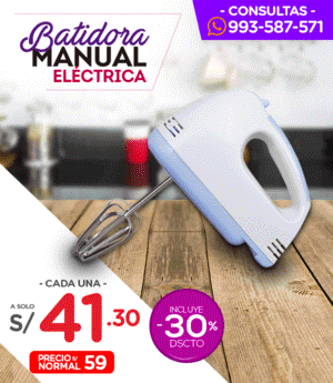 Batidora Manual Eléctrica