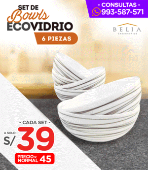 Bowl Ecovidrio Set x6