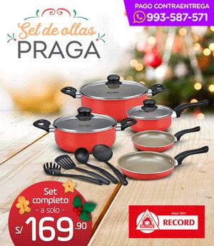Ollas Récord Praga - Set navideño x12 piezas