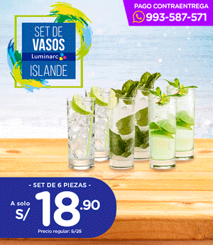 Vasos Luminarc Set x6