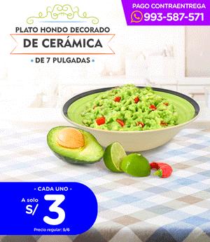 "Plato Sopero de Cerámica de 7"" (HM-14)"