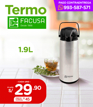 Termo Facusa 1.9 Lt - Satinado