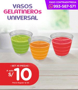 Vaso Gelatinero Universal - Set x5