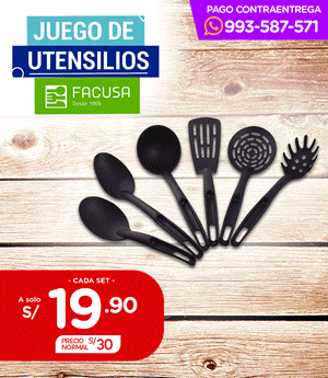 Utensilios Facusa Set x6