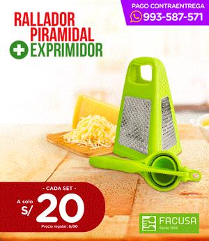Pack Rallador Piramidal + Exprimidor - Facusa