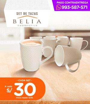 Taza Belia Set x8